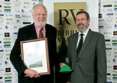 2015 winners Bowland Bio Award 3 Winner (left) Whalley Community Hydro Graham Sowter