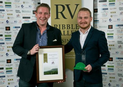 2015 winners Creative Business 3 Winner (right) Ribcaged Productions Owen Phillips