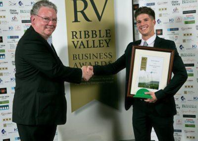 2015 winners Enterprising Person 4 Winner Kieren Spencer (right)